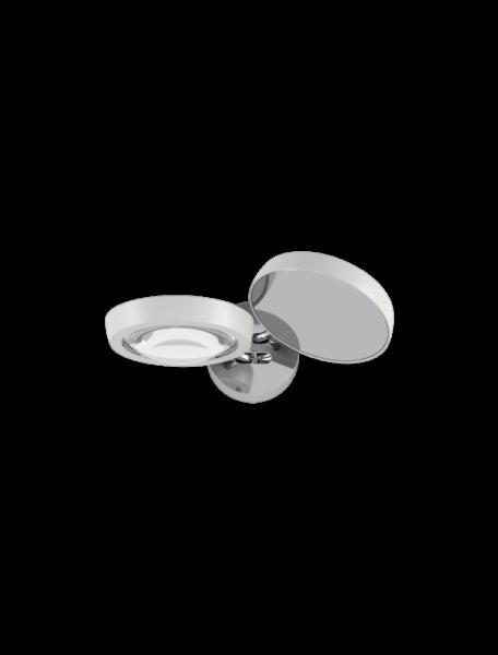 Studio Italia Design/Lodes Wandleuchte Nautilus Chrom/Weiß matt