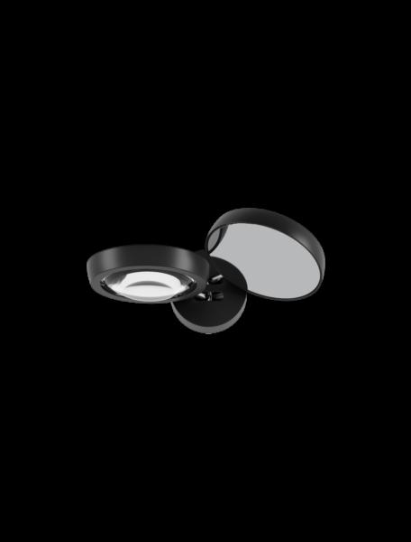 Studio Italia Design/Lodes Wandleuchte Nautilus Schwarz matt/Schwarz matt