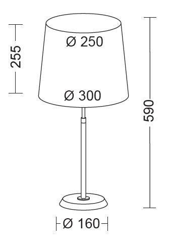 Holtkötter Tischleuchte 6263, H: 59 cm - Lampen & Leuchten