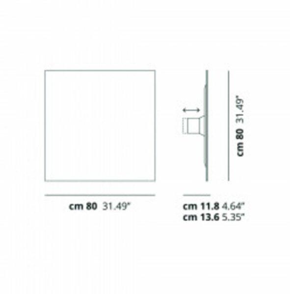 Lodes Wand- Deckenleuchte Puzzle Mega Square Maße 80cm