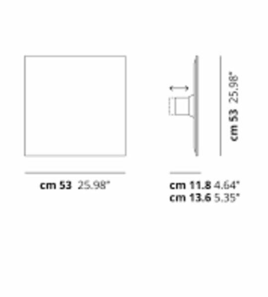 Lodes Wand- Deckenleuchte Puzzle Mega Square Maße 53cm
