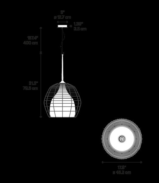 Diesel Cage Large Pendelleuchte Maße