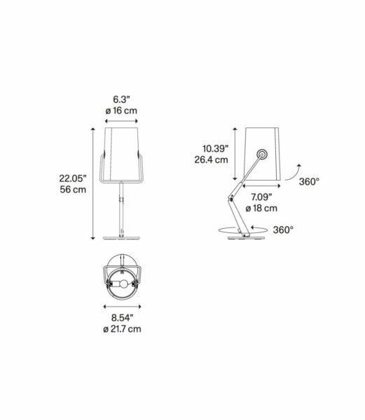 Diesel Tischleuchte Fork Maße