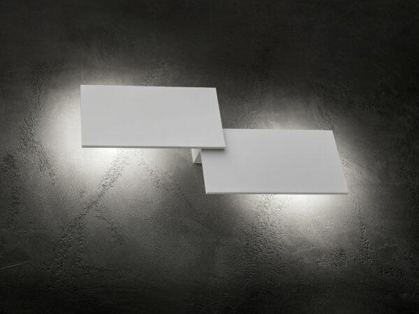 Lodes Puzzle Double Rectangle Außenleuchte Weiß