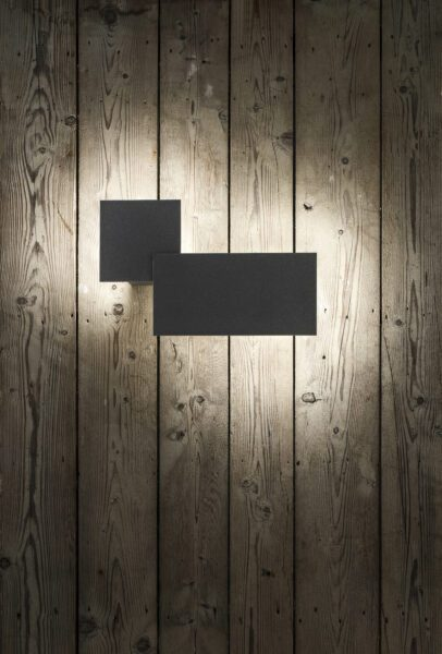Lodes Puzzle Double Square & Rectangle Außenleuchte Schwarz