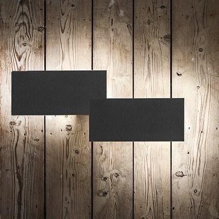Lodes Puzzle Double Rectangle Außenleuchte Schwarz