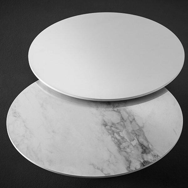 Lodes Wand- Deckenleuchte Puzzle Round Marmor und Weiß