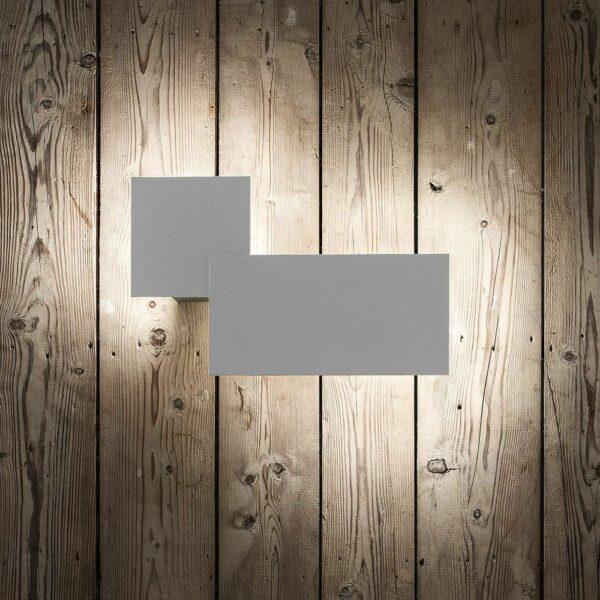 Lodes Puzzle Double Square & Rectangle Außenleuchte Weiß