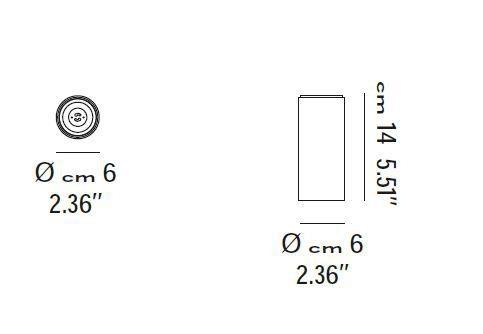 Lodes Deckenleuchte A-Tube Größe mini 14cm