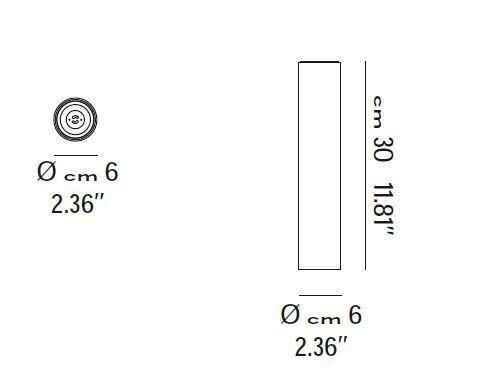 Lodes Deckenleuchte A-Tube Größe smale 30cm