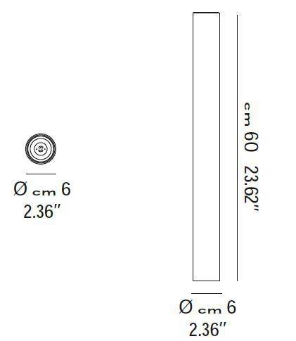 Lodes Deckenleuchte A-Tube Größe medium 60cm