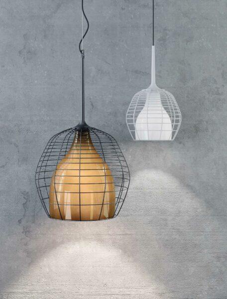 Diesel Living with Lodes Pendelleuchte Cage Small inkl. Baldachin - Lampen & Leuchten