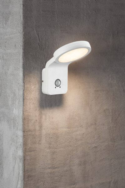 Nordlux Wandaußenleuchte Marina Flatline Weiß Sensor