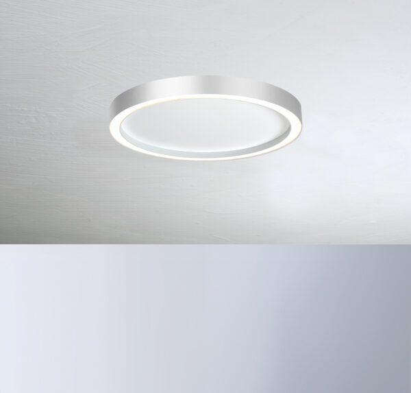Bopp Deckenleuchte Aura mittel Weiß/Aluminium