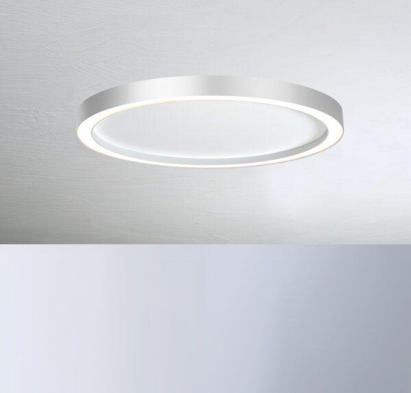 Bopp Deckenleuchte Aura groß Weiß/Aluminium
