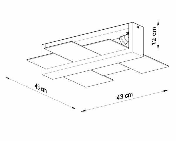 Sollux Lighting Deckenleuchte Feniks 2 Maße