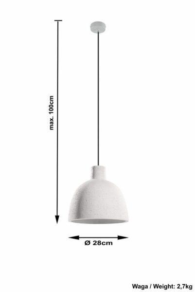 Sollux Lighting Pendelleuchte Damaso Beton Maße