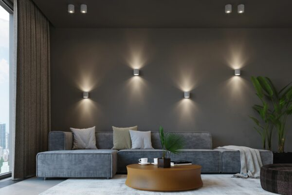 Sollux Lighting Wandleuchte Orbis Beton