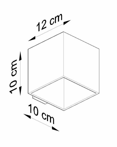 Sollux Lighting Wandleuchte Quad Maße
