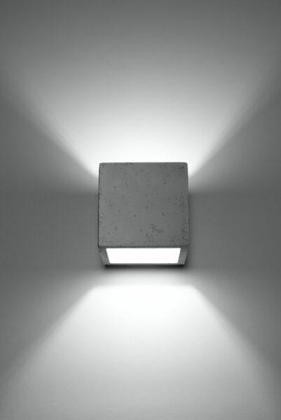 Sollux Lighting Wandleuchte Quad Beton