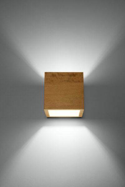 Sollux Lighting Wandleuchte Quad Holz