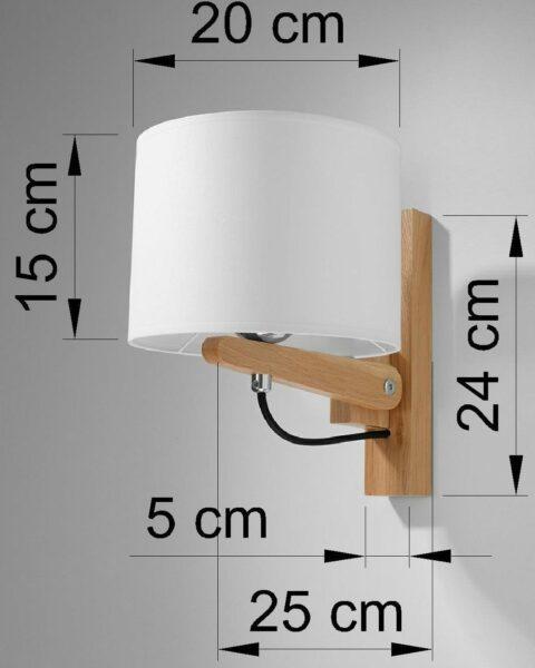 Sollux Lighting Wandleuchte Legno Maße