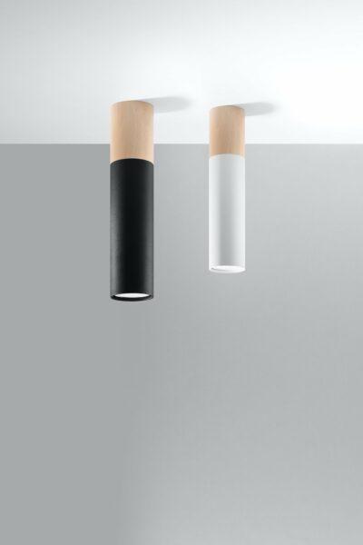 Sollux Lighting Deckenleuchte Pablo Schwarz und Weiß