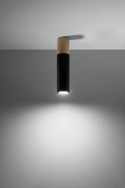 Sollux Lighting Deckenleuchte Pablo Schwarz