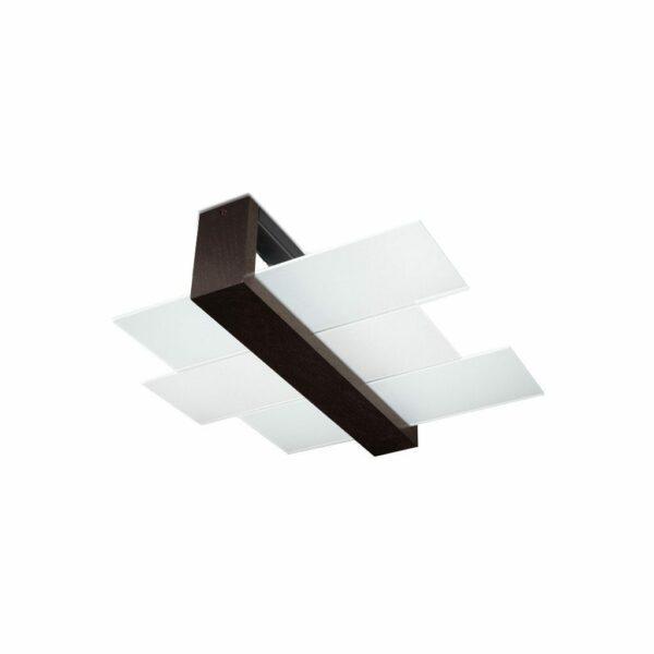 Sollux Lighting Deckenleuchte Feniks 2 Holz dunkel
