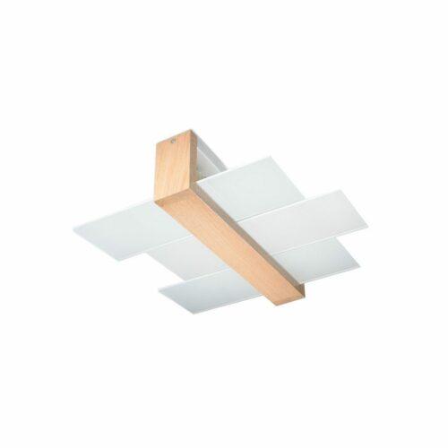 Sollux Lighting Deckenleuchte Feniks 2 Holz hell