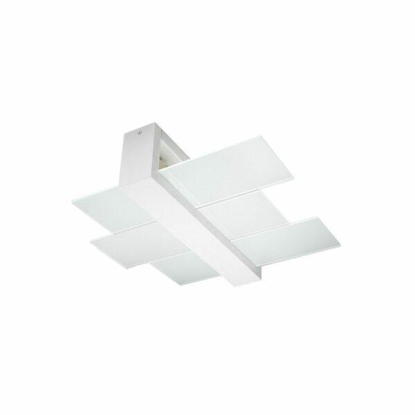 Sollux Lighting Deckenleuchte Feniks 2 Holz Weiß