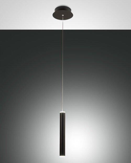 Fabas Luce Pendelleuchte Prado Schwarz 1-flammig