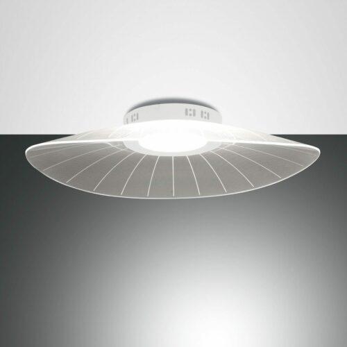 Fabas Luce Deckenleuchte Vela in Weiß 59 x 43 cm